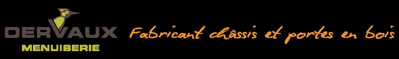 logo Dervaux frères menuiserie, fabrication et pose de châssis, portes en bois et bois-alu à Tournai, Belgique